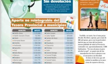 Aporte no reintegrable del Tesoro Provincial a los Municipios