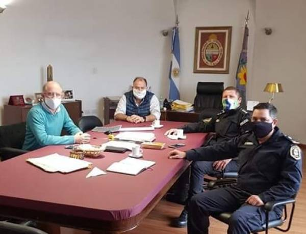 Matzkin recibió a autoridades de la Zona Operativa Vial