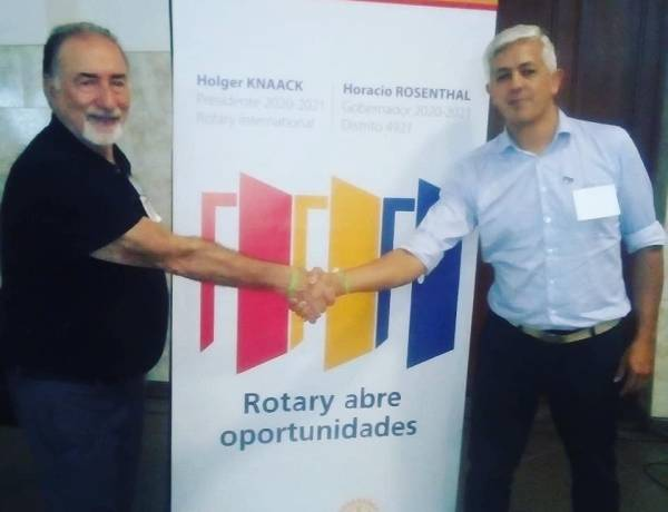 Juan Pedro de Vega asume como Presidente del Rotary Club