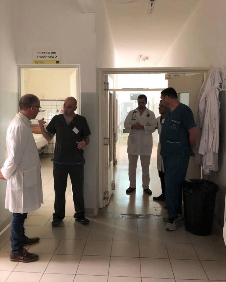 Matzkin se aseguró de conocer el protocolo hospitalario ante el COVID-19