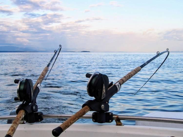Balneario, pesca y verano