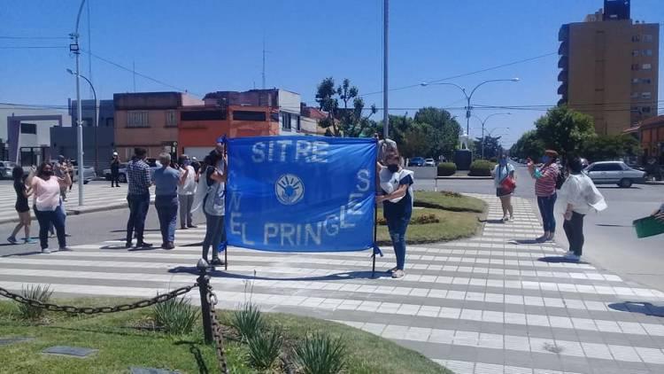 SITRE: Concentración pacífica en el patio del Hospital Municipal